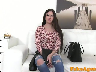 FakeAgent New skinny Russian model likes hard fucking on casting couch