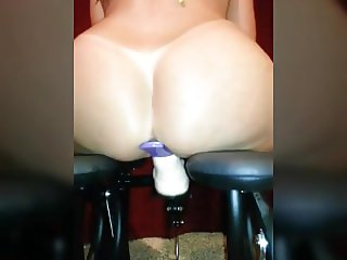 Riding Her Dildo Rocker