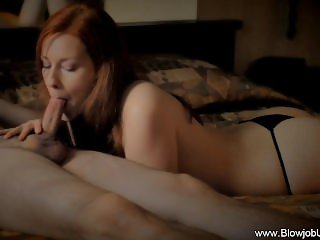 Black Thong Naughty Blowjob
