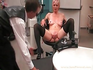 I am Pierced BDSM Slave with pussy piercings stretched