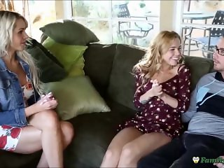 Hot Milf Mom Teaches Step Sister Anal With Her Brother