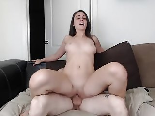 Cute Teen Fucks her BF and Swallows his Cum on Webcam
