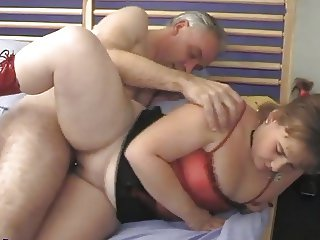 Young chubby girl meets older men