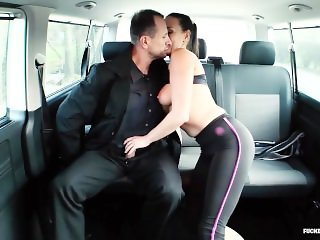 FUCKED IN TRAFFIC - Cheating Czech wife Mea Melone fucked by horny driver