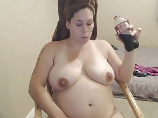 Amateur Feedee Plays After A Shower