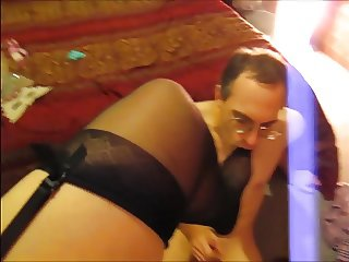 Dominatrix whips Stocking Foot Slave