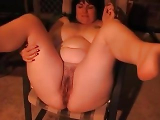 Chubby Wife Pissing on a Patio