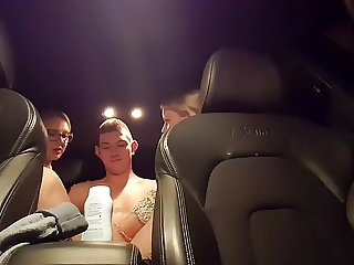 Being handjobbed by two prostitutes in my car