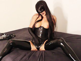 Sexy Hot Black Hair Vixen Anal Butt Plug Play POV Blowjob Squirt