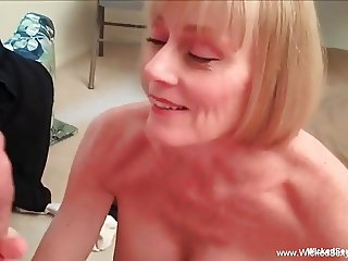 Mom Makes Son Cock Jump Around