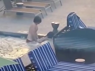 Quick one in the pool