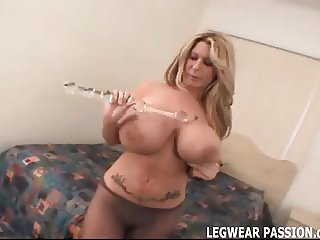 Rip open my stockings and pound my pussy