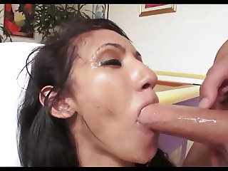 Beautiful Latina SS Sloppy Deepthroat Blowjob