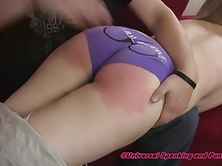 A Sexy and Stern Hand Spanking