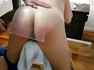 Spanked and Paddled on the Punishment Bench