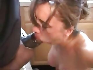 White Wife used hard by 2 Big Black Cocks!