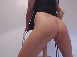 Hot asian babe play with dildo
