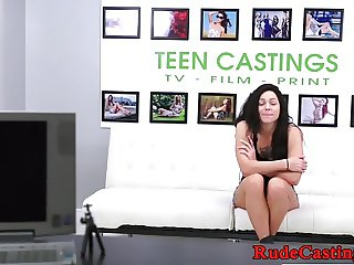 Bigass casting teen gagged and pounded