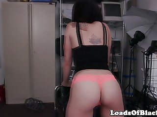 Casting twerker cocksucks till cum in mouth