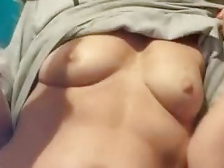 wife flashing her titties