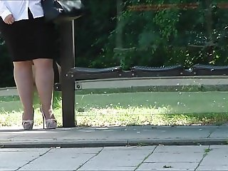 In Platform Slingbacks At A Busstop