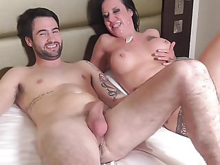 Tiffany Morriss sucking cock and taking a load