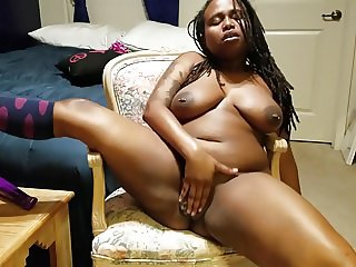 huge ebony orgasm moans
