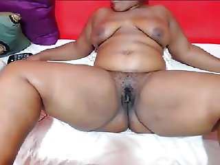 Thick Ebony BBW Webcam Laying Back Spread Eagle