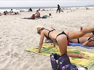 workout on the beach