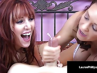 Fiery Redhead, Lauren Phillips & Charlee Chase Suck A Cock!