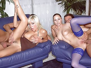 Jessica and Britnee Have a DP Orgy