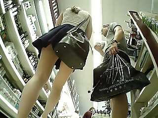Following Chick around supermarket. Upskirt Delight!