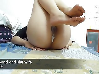 husband and slutwife creampie