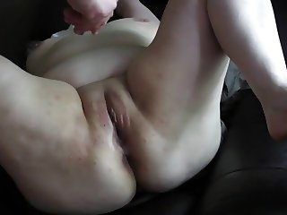 Naughty BBW Slut Cums on BBC Dildo