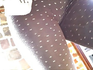 nice french teen with great ass in see throught leggins