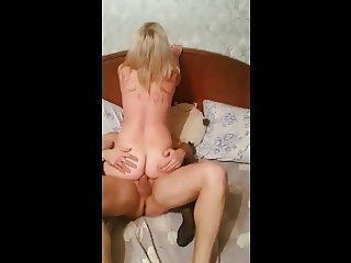 Homemade friend fuck wife ass