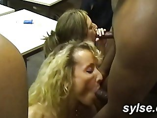 BBC orgy in office for 2 secretaries