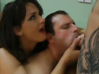 FemdomWife makes her husband suck cock