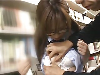 Jap girls fucked in the library