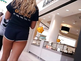 hot teen in cheeky shorts