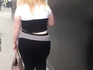 Candid BBW Teen - Big Wobbly Ass