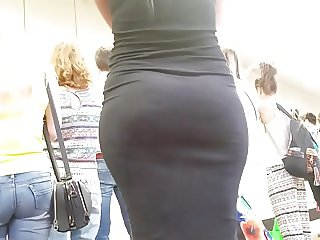 Big armenian ass in black dress