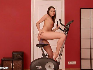 Ashley and her magnificent bike