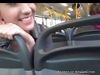 German blondes sucking dick on a public bus