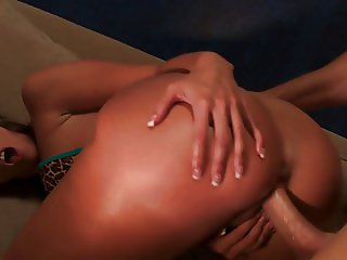 Kelly Divine gets her big ass banged after getting oiled up