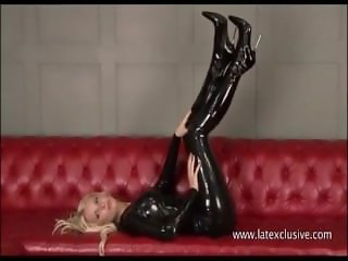 Blonde Alex in latex fetish wear and softcore sologirl in kinky outfits and