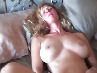 The wife getting off