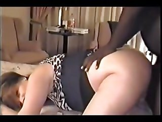 Wife love bbc in ass with anal creampie