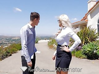 PureMature Real estate MILF Nina Elle fucks potential buyer