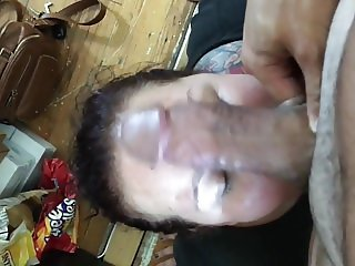 BJ and Messy Facial - Cum Whore Training  - 8